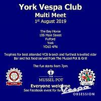 YORK VESPA CLUB  MULTIMEET,  1-8-19